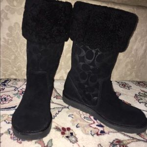 Coach Kally Black Boots